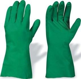 Nitril Handschuhe grün 32cm Stulpe 12er Pack