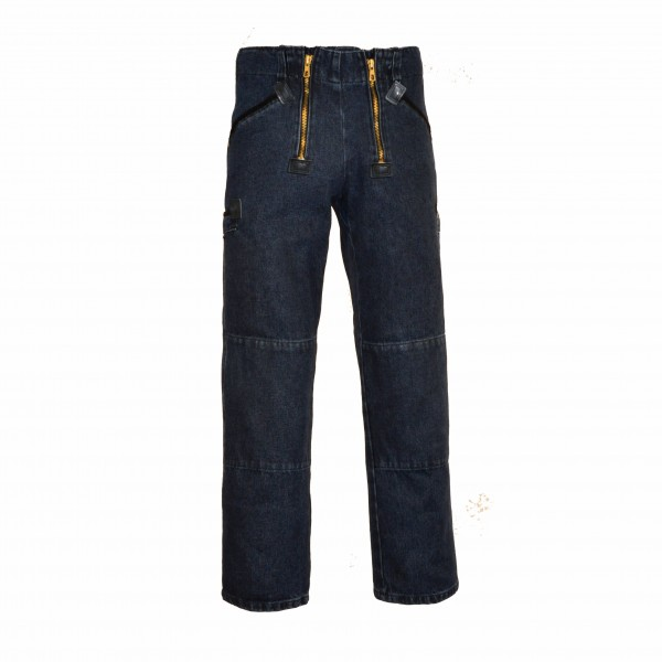 EIKO Zunft-Jeans mit Knieverstärkung, 2 Zollstocktaschen blue-stonewashed