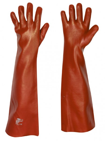 PVC Handschuh rot 60cm