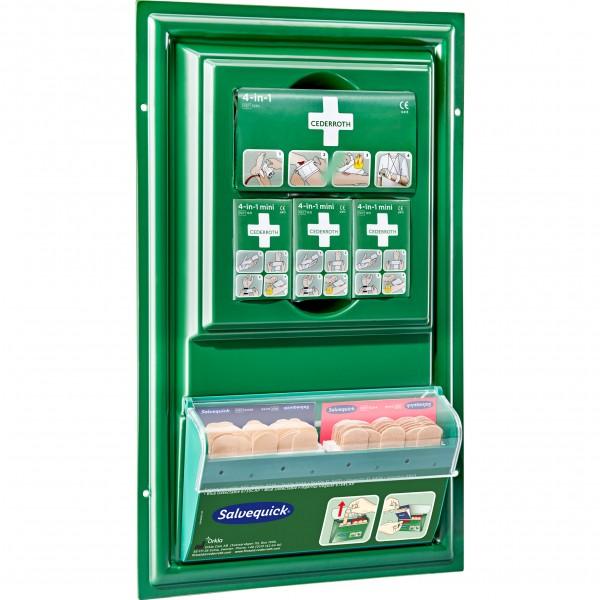 Erste-Hilfe-Tafel mit Pflasterspender