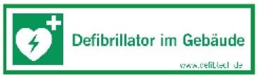 """Aufkleber """"Defibrillator im Gebäude"""""""