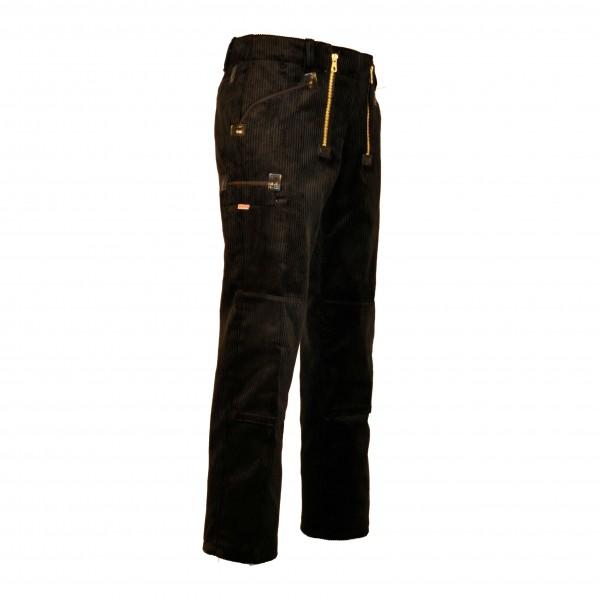 EIKO Zunfthose schwarz, 2 Zollstocktaschen, Kniepolstertaschen