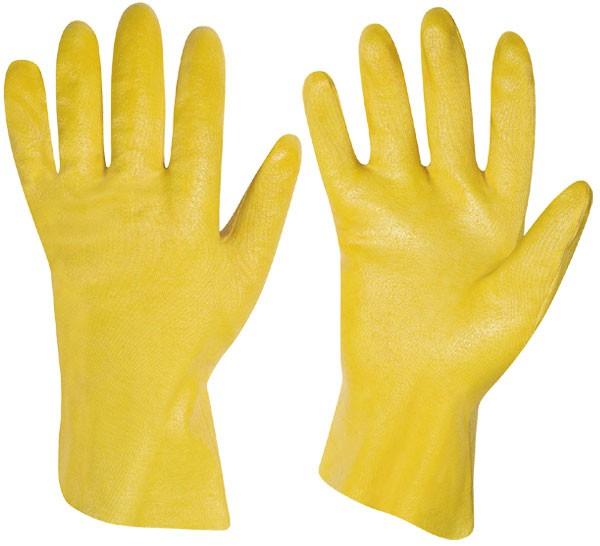 Nitril Handschuhe gelb 30cm Stulpe 12er Pack