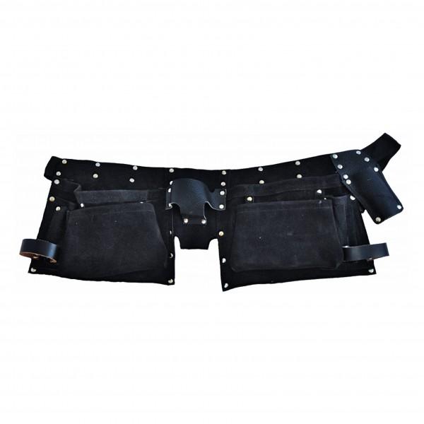 Eiko Montage-Gurt mit Taschen Veloursleder schwarz