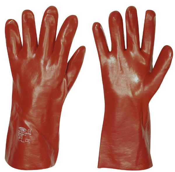 PVC Handschuh rot 35cm